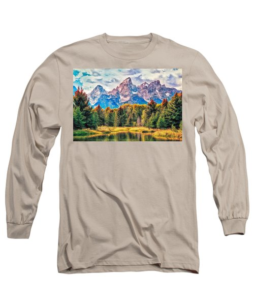 Autumn In The Tetons Long Sleeve T-Shirt