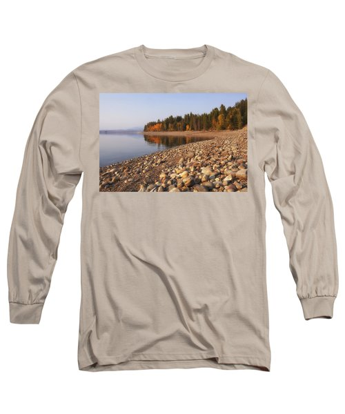 Long Sleeve T-Shirt featuring the photograph Autumn Lake by Andrew Soundarajan