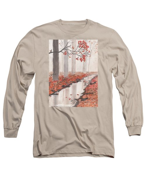 Autumn Leaves Long Sleeve T-Shirt by David Jackson