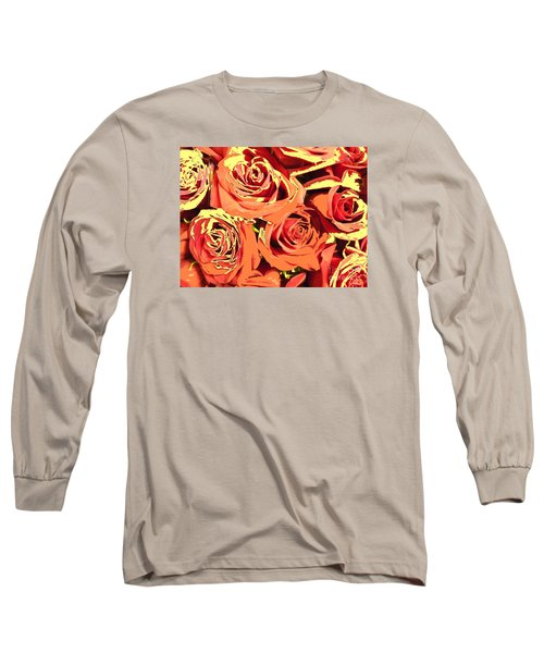 Long Sleeve T-Shirt featuring the photograph Autumn Roses On Your Wall by Joseph Baril