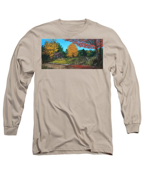 Autumns Rustic Path Long Sleeve T-Shirt by Wendy Shoults