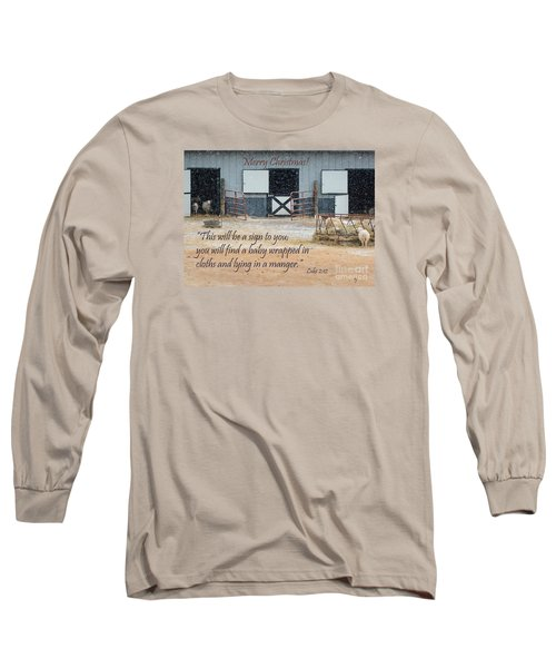 In A Manger Long Sleeve T-Shirt by Nava Thompson