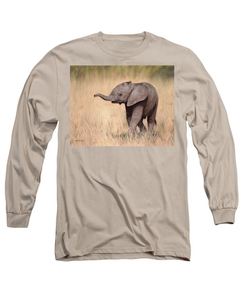 Elephant Calf Painting Long Sleeve T-Shirt