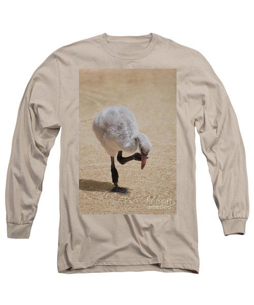 Baby Flamingo Long Sleeve T-Shirt by DejaVu Designs