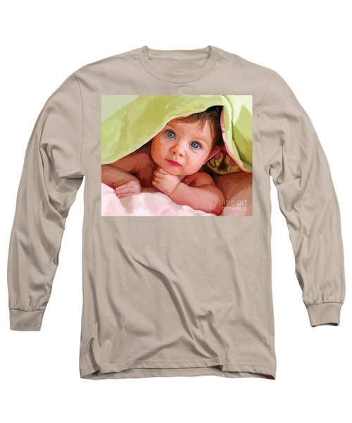Long Sleeve T-Shirt featuring the painting Baby Under Blanket by Tim Gilliland