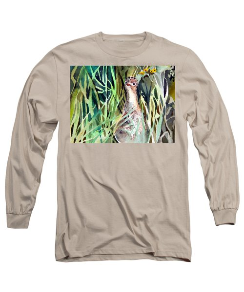 Baby Wild Turkey Long Sleeve T-Shirt by Mindy Newman