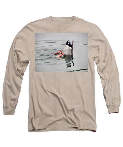 Long Sleeve T-Shirt featuring the photograph Bad Landing by Deb Halloran