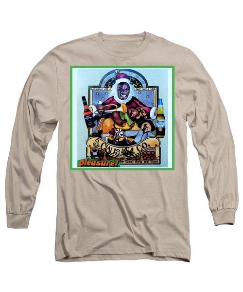 Bad Santa Long Sleeve T-Shirt by Lisa Piper
