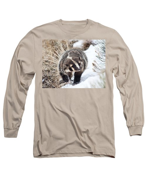 Badger In The Snow Long Sleeve T-Shirt