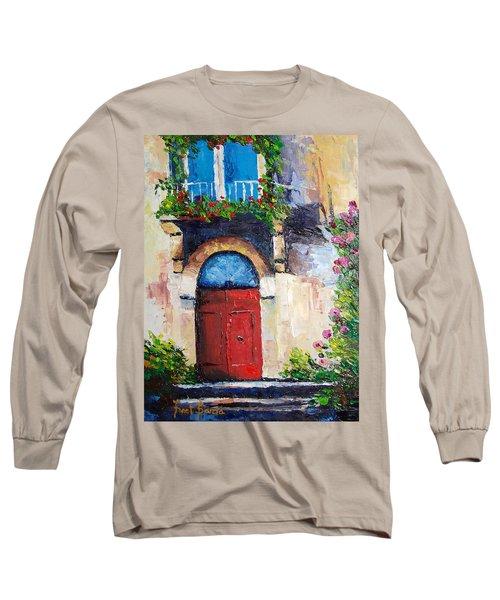 Balcony Long Sleeve T-Shirt by Janet Garcia
