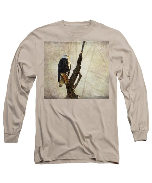 Bald Eagle Keeping Watch In Illinois Long Sleeve T-Shirt