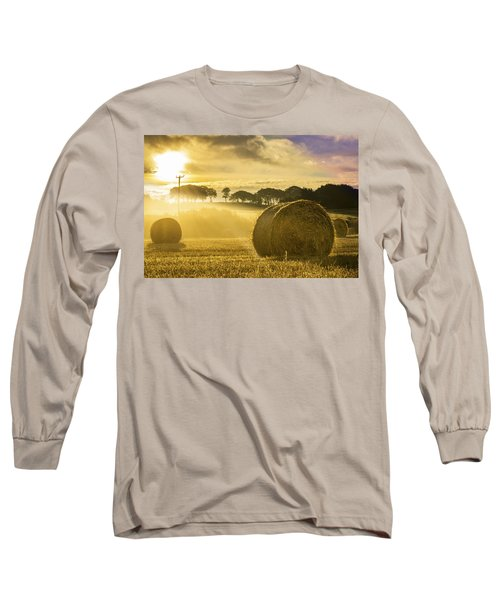 Bales In The Morning Mist Long Sleeve T-Shirt