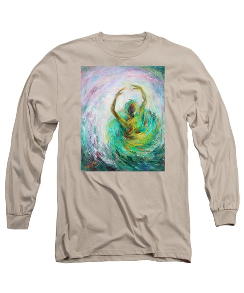 Long Sleeve T-Shirt featuring the painting Ballerina by Xueling Zou