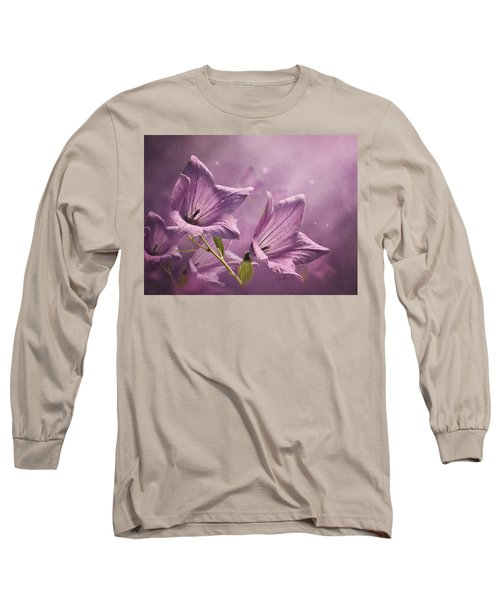 Long Sleeve T-Shirt featuring the photograph Balloon Flowers by Ann Lauwers
