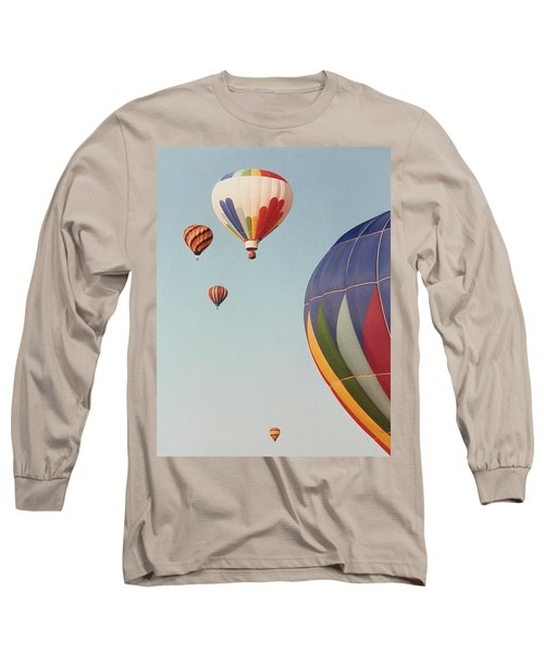 Long Sleeve T-Shirt featuring the photograph Balloons High In The Sky by Belinda Lee
