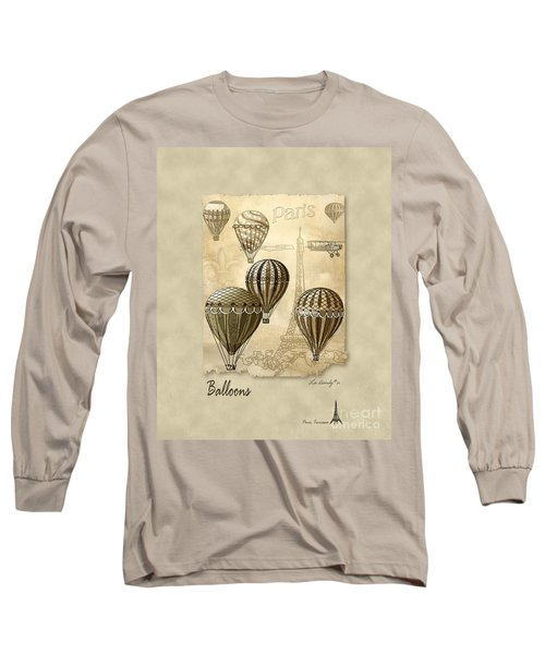 Balloons With Sepia Long Sleeve T-Shirt