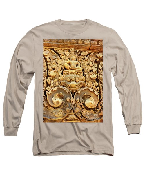 Banteay Srei Carving 01 Long Sleeve T-Shirt