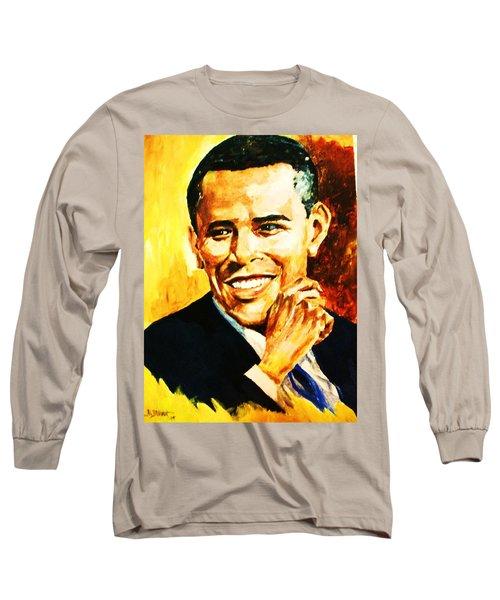 Barack Obama Long Sleeve T-Shirt by Al Brown