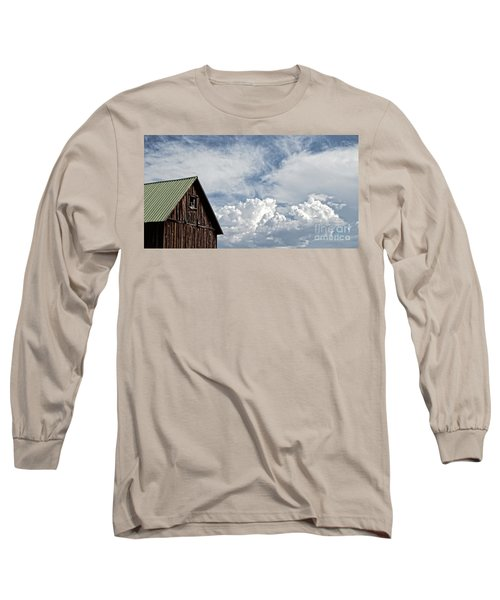 Long Sleeve T-Shirt featuring the photograph Barn And Clouds by Joseph J Stevens