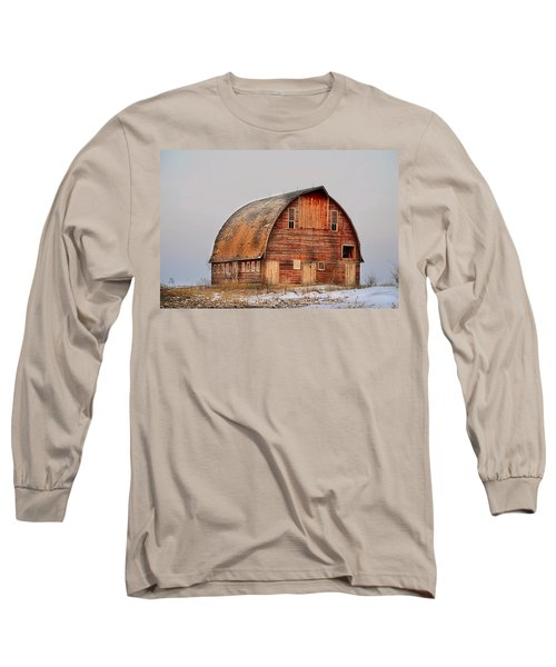 Barn On The Hill Long Sleeve T-Shirt by Bonfire Photography