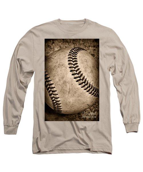 Baseball Old And Worn Long Sleeve T-Shirt