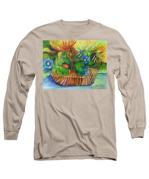 Flowers In My Basket Long Sleeve T-Shirt