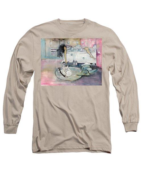 Bath Time Long Sleeve T-Shirt by Leela Payne