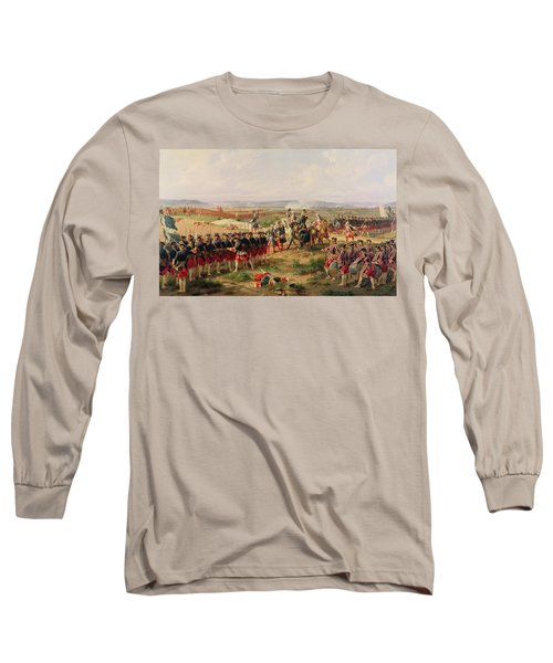 Battle Of Fontenoy, 11 May 1745 The French And Allies Confronting Each Other Long Sleeve T-Shirt