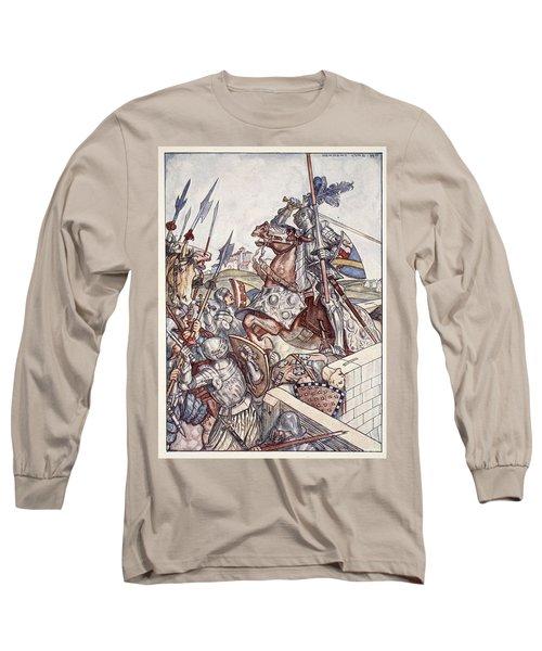 Bayard Defends The Bridge, Illustration Long Sleeve T-Shirt