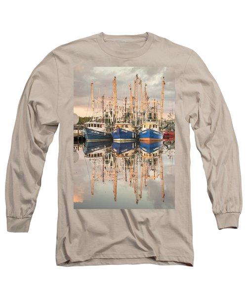 Bayou La Batre' Al Shrimp Boat Reflections 41 Long Sleeve T-Shirt