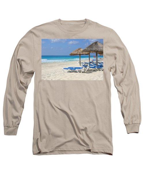 Beach Chairs In Cancun Long Sleeve T-Shirt