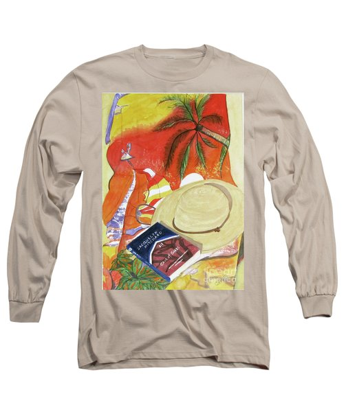 Long Sleeve T-Shirt featuring the painting Beach Day by Carol Flagg