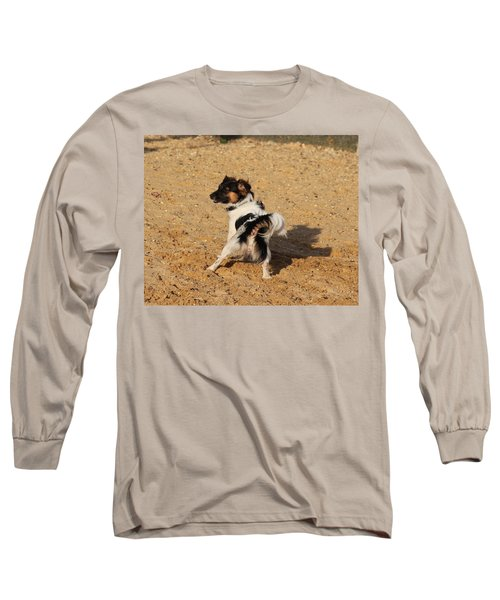 Beach Dog Pose Long Sleeve T-Shirt