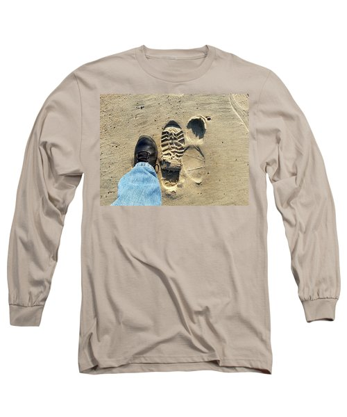 Beach Of Big Feet Long Sleeve T-Shirt