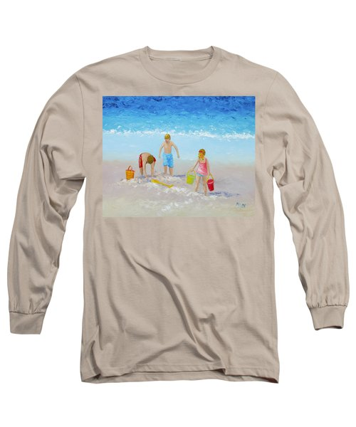 Beach Painting - Sandcastles Long Sleeve T-Shirt