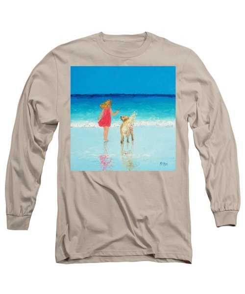 Beach Painting 'sunkissed Hair'  Long Sleeve T-Shirt