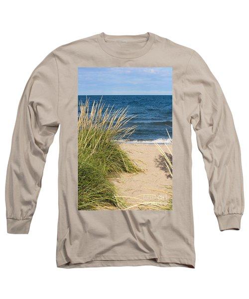 Beach Path Long Sleeve T-Shirt by Barbara McMahon