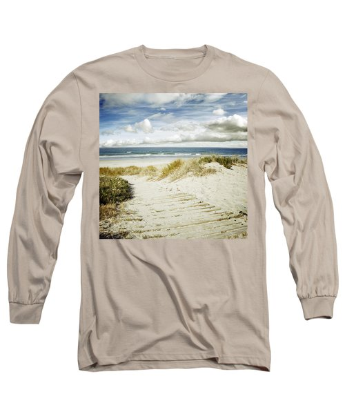 Beach View Long Sleeve T-Shirt by Les Cunliffe
