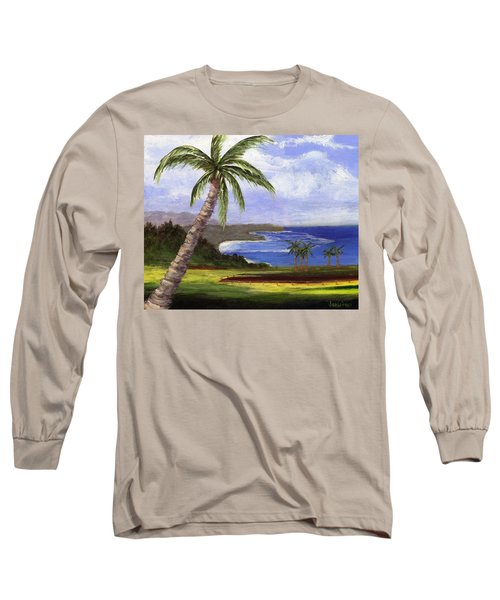 Long Sleeve T-Shirt featuring the painting Beautiful Kauai by Jamie Frier