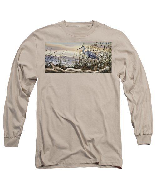 Beauty Along The Shore Long Sleeve T-Shirt by James Williamson