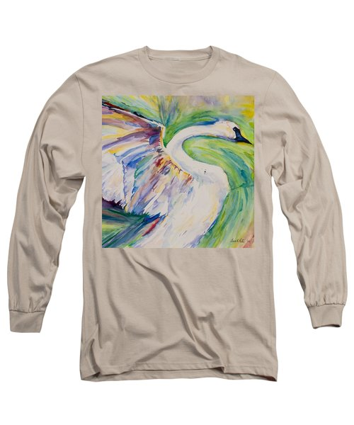 Beauty And Grace - Original Watercolor Painting Long Sleeve T-Shirt