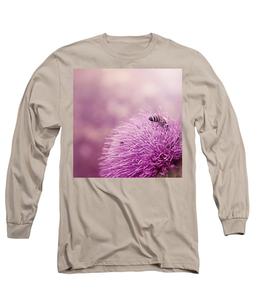 Beauty And The Bee Long Sleeve T-Shirt by Trish Mistric