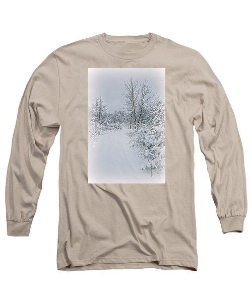 Beauty Of Winter Long Sleeve T-Shirt by Kay Novy