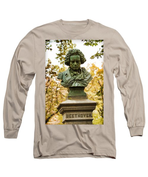 Beethoven In Central Park Long Sleeve T-Shirt by Alice Gipson