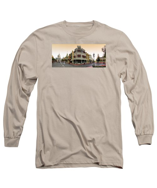 Before The Gates Open Magic Kingdom Main Street. Long Sleeve T-Shirt