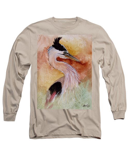 Behind The Grasses Long Sleeve T-Shirt by Lil Taylor