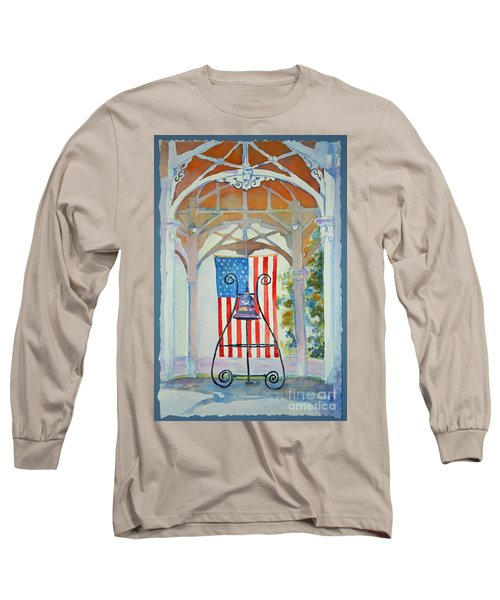 Bell And Flag Long Sleeve T-Shirt by Mary Haley-Rocks