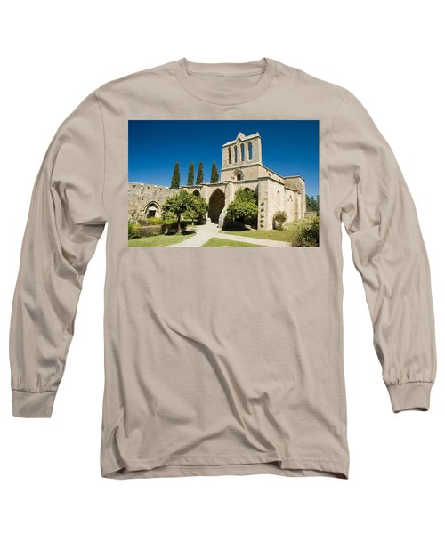Bellapais Abbey Kyrenia Long Sleeve T-Shirt by Jeremy Voisey