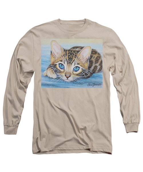 Bengal Kitten Long Sleeve T-Shirt by Jane Girardot