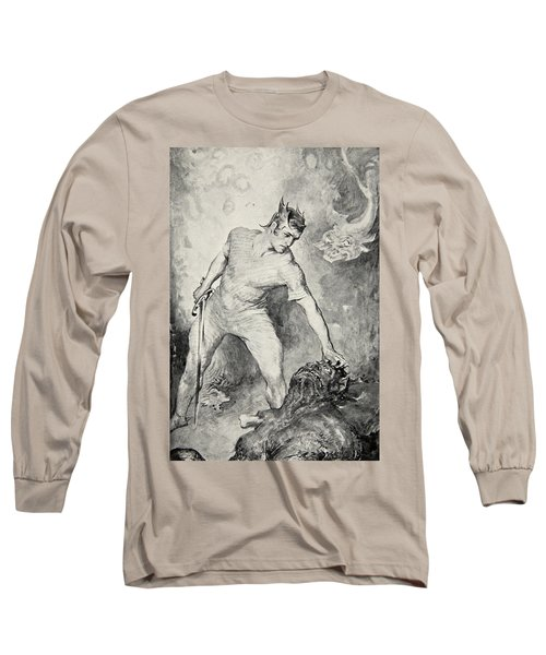 Beowulf Shears Off The Head Of Grendel Long Sleeve T-Shirt